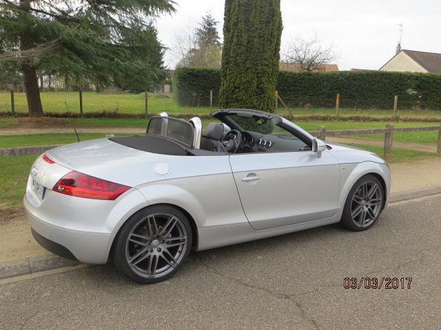 audi tt 8j 2 0 tfsi s line s tronic cabriolet gris clair occasion 21 300 29 200 km vente. Black Bedroom Furniture Sets. Home Design Ideas