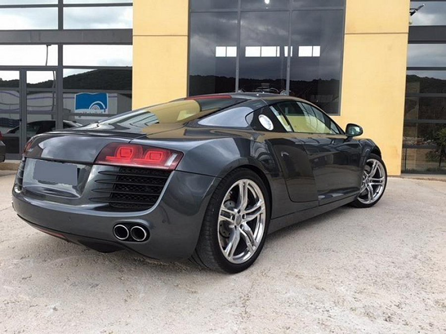 audi r8 i v8 4 2 fsi quattro r tronic 420ch coup gris fonc occasion 62 000 53 500 km. Black Bedroom Furniture Sets. Home Design Ideas