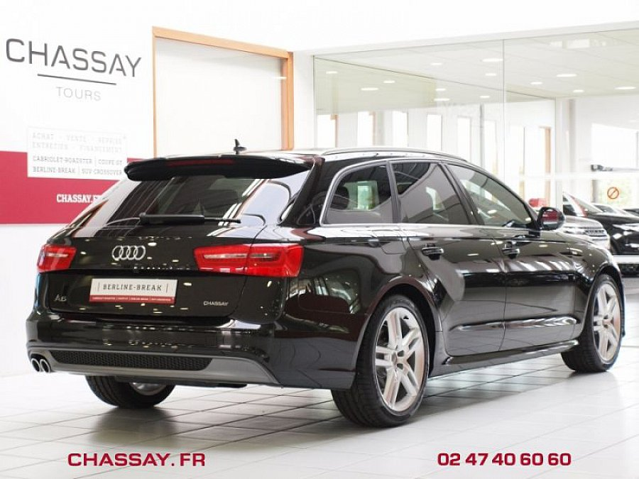 audi a6 avant c7 2 0 tdi 177 ch s line multitronic break noir occasion 42 890 9 100 km. Black Bedroom Furniture Sets. Home Design Ideas