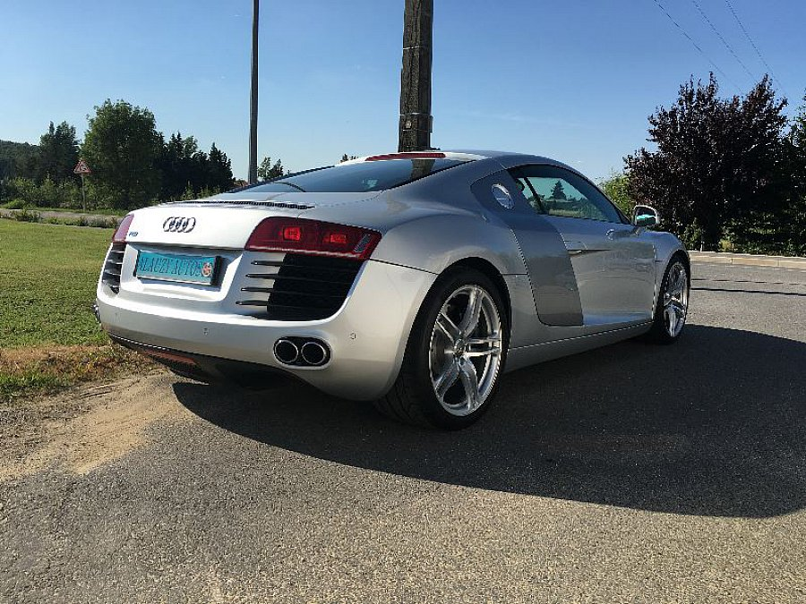 audi r8 i v8 4 2 fsi quattro 420ch coup gris occasion 63 500 26 000 km vente de voiture. Black Bedroom Furniture Sets. Home Design Ideas