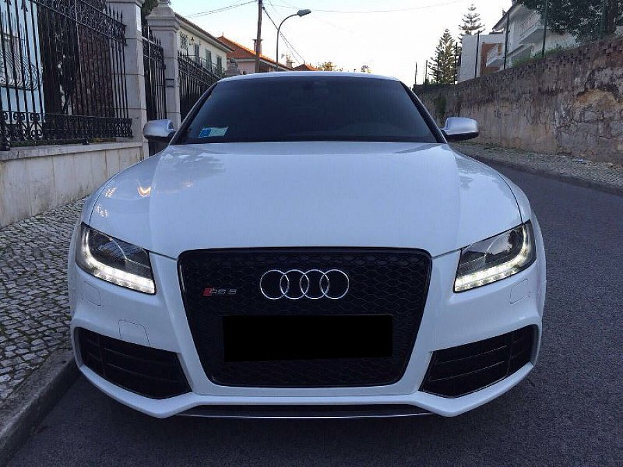 audi rs5 4 2 fsi v8 quattro 450ch s tronic 7 coup blanc occasion 52 500 48 000 km vente. Black Bedroom Furniture Sets. Home Design Ideas