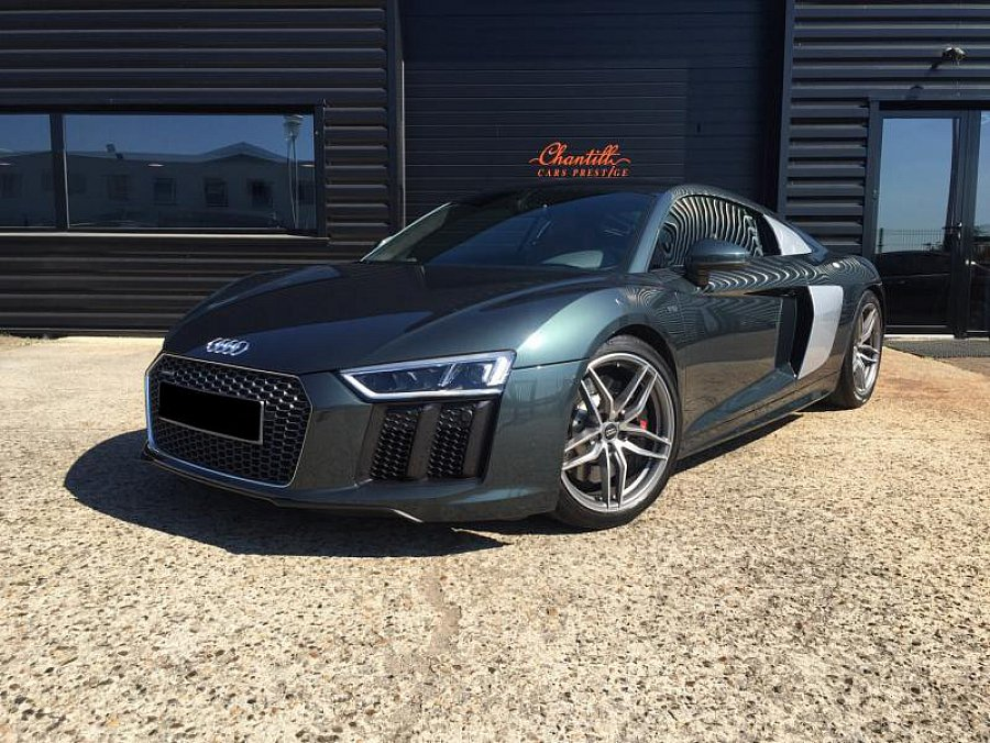 audi r8 ii v10 5 2 fsi quattro 540ch s tronic coup gris fonc occasion 165 000 15 000 km. Black Bedroom Furniture Sets. Home Design Ideas