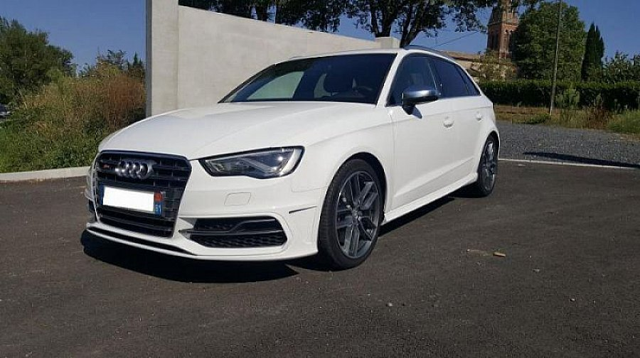 audi s3 typ 8v 2 0 tfsi 300 ch sportback break blanc occasion 43 900 9 500 km vente de. Black Bedroom Furniture Sets. Home Design Ideas