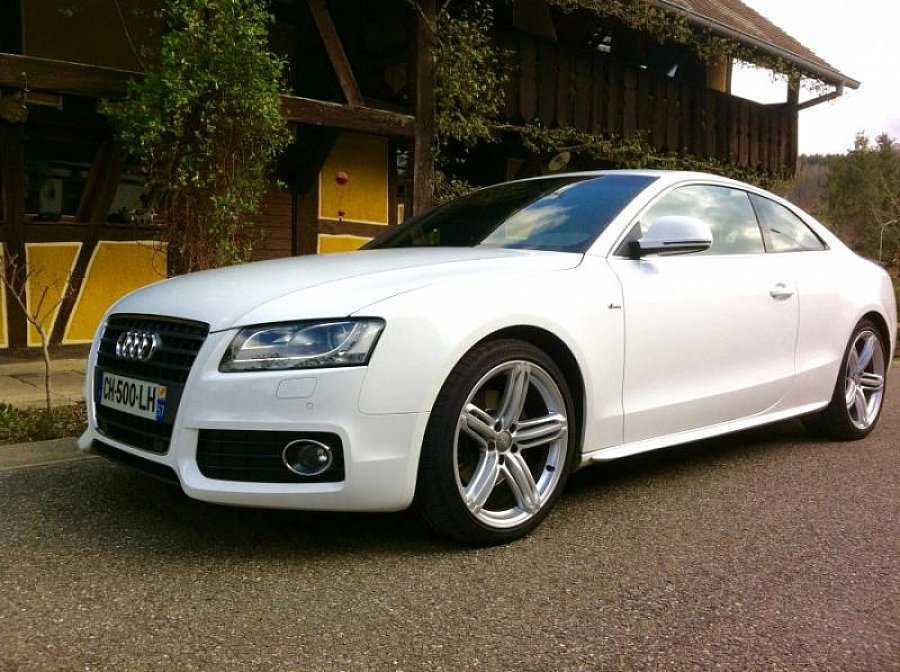 audi a5 i coup 2 7 tdi 190 ch s line coup blanc occasion. Black Bedroom Furniture Sets. Home Design Ideas