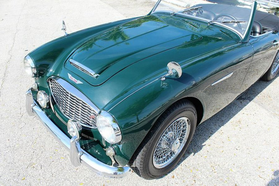 austin healey 100 6 bn4 cabriolet vert fonc occasion 46 830 58 765 km vente de voiture. Black Bedroom Furniture Sets. Home Design Ideas