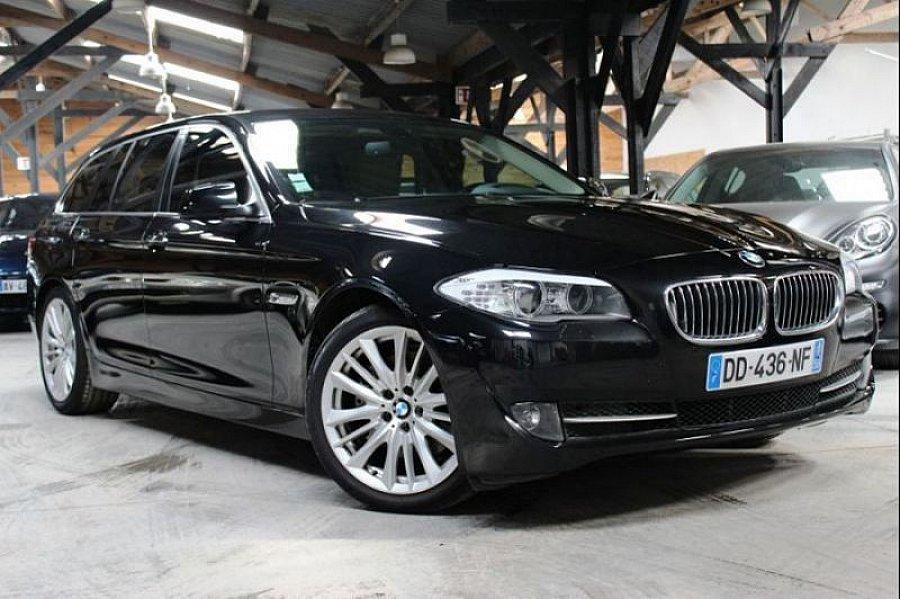 bmw serie 5 f11 touring luxe break noir occasion 18 900 167 500 km vente de voiture d. Black Bedroom Furniture Sets. Home Design Ideas