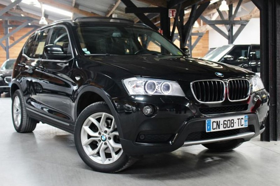 bmw x3 f25 xdrive20d 184ch exclusive suv noir occasion. Black Bedroom Furniture Sets. Home Design Ideas
