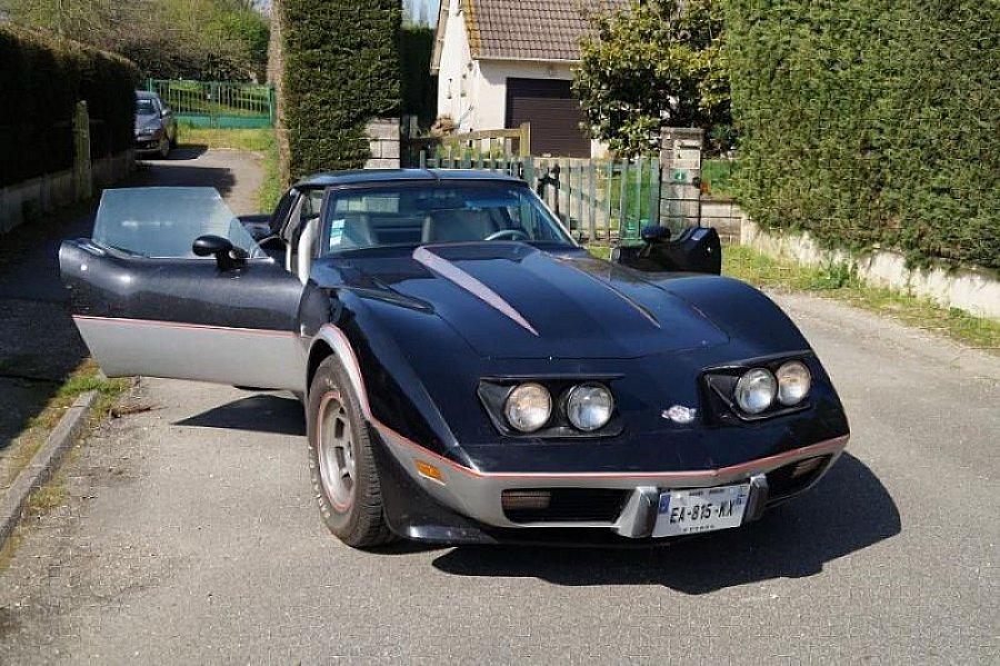 chevrolet corvette c3 pace car 25 me anniversaire coup gris clair occasion 25 000 61 000. Black Bedroom Furniture Sets. Home Design Ideas