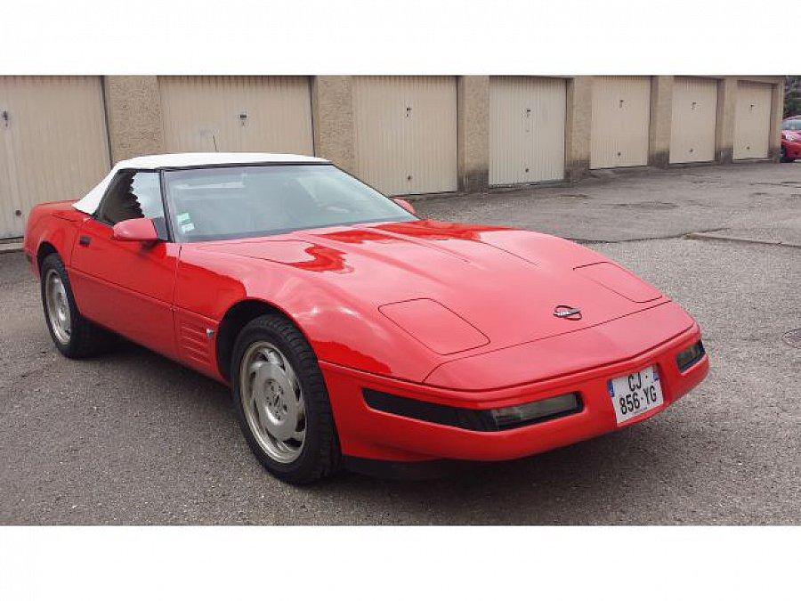chevrolet corvette 5 7 v8 350ci lt1 40eme anniversaire cabriolet rouge occasion 19 000. Black Bedroom Furniture Sets. Home Design Ideas