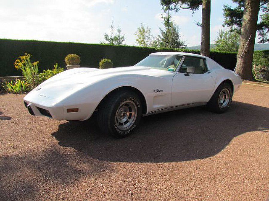 chevrolet corvette stingray coup blanc occasion 22 000 87 000 km vente de voiture d. Black Bedroom Furniture Sets. Home Design Ideas
