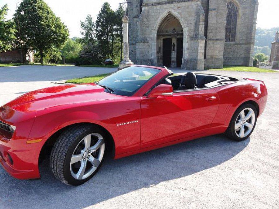 chevrolet camaro 2ss 6 2 v8 426 ch 376 ci cabriolet rouge occasion 39 500 12 000 km. Black Bedroom Furniture Sets. Home Design Ideas