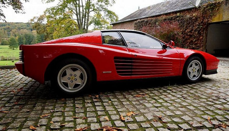 ferrari testarossa 4 9l 390ch coup rouge occasion 165 000 69 000 km vente de voiture d. Black Bedroom Furniture Sets. Home Design Ideas
