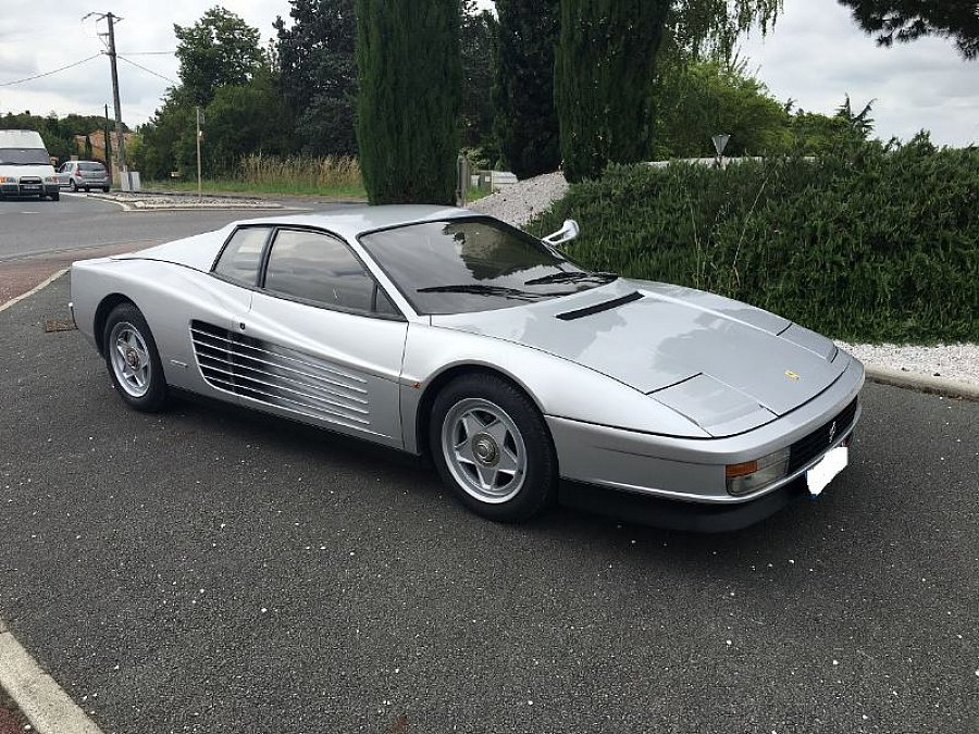 ferrari testarossa 4 9l 390ch monospecchio coup gris occasion 189 000 38 000 km vente. Black Bedroom Furniture Sets. Home Design Ideas