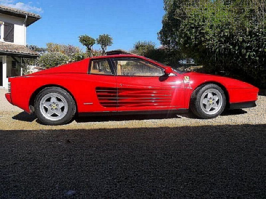 ferrari testarossa 4 9l 390ch coup rouge occasion 120 000 82 000 km vente de voiture d. Black Bedroom Furniture Sets. Home Design Ideas