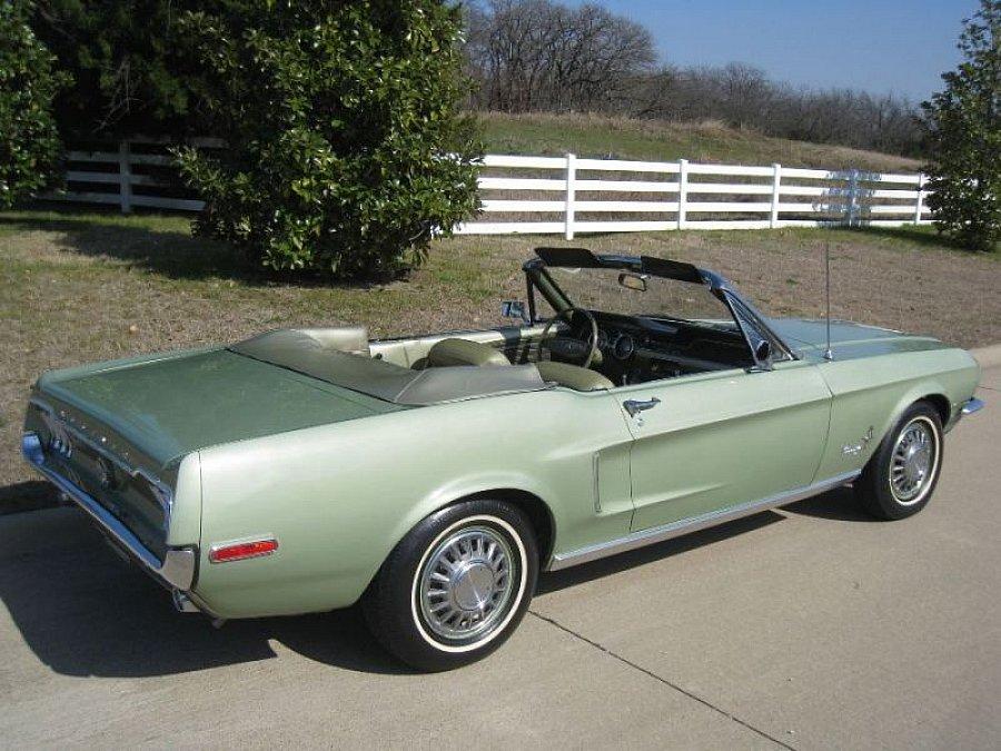 ford mustang i 1964 73 4 7l v8 289 ci cabriolet vert. Black Bedroom Furniture Sets. Home Design Ideas