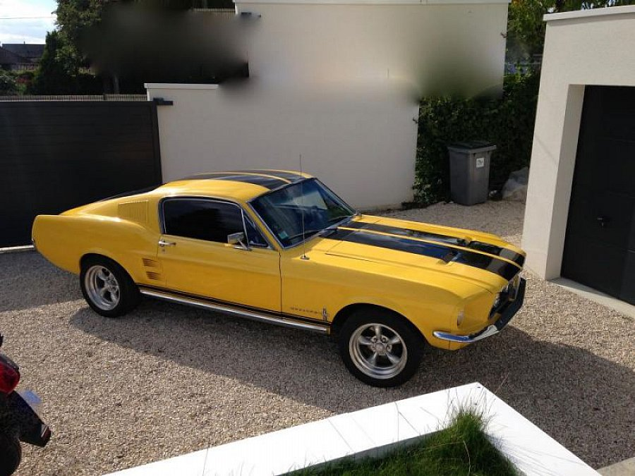 ford mustang i 1964 73 4 7l v8 289 ci fastback coup jaune occasion 44 000 100 000 km. Black Bedroom Furniture Sets. Home Design Ideas
