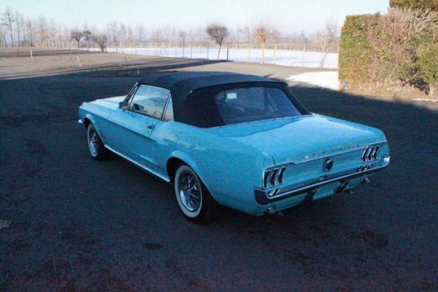 ford mustang i 1964 73 4 7l v8 289 ci cabriolet bleu occasion 34 900 50 000 km vente. Black Bedroom Furniture Sets. Home Design Ideas