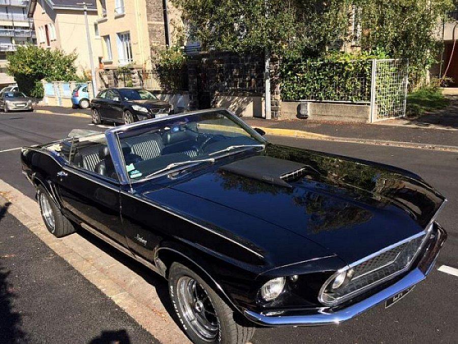 ford mustang i 1964 73 4 9l v8 302 ci cabriolet noir occasion 35 500 97 000 km vente. Black Bedroom Furniture Sets. Home Design Ideas