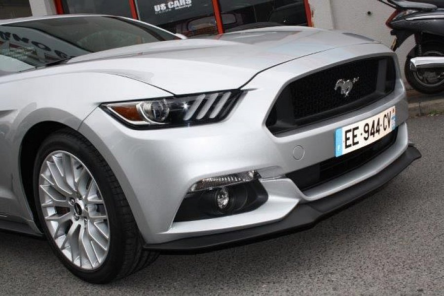 ford mustang vi 2015 gt fastback v8 5 0l coup gris occasion 42 900 10 km vente de. Black Bedroom Furniture Sets. Home Design Ideas