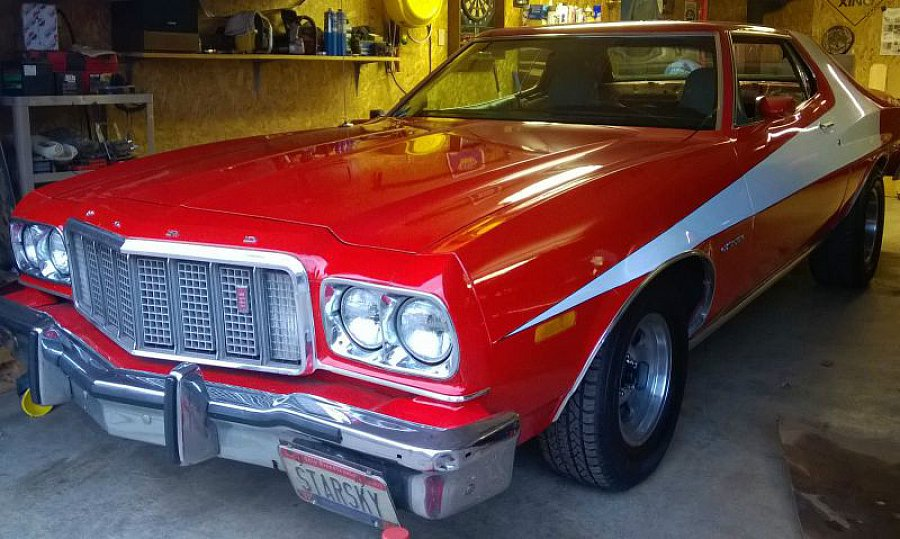 ford usa grand torino starsky hutch coup rouge occasion 16 510 50 000 km vente de. Black Bedroom Furniture Sets. Home Design Ideas