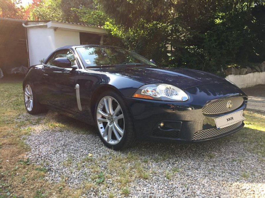 jaguar xkr x150 4 2 v8 416ch cabriolet bleu occasion 41 500 55 500 km vente de voiture d. Black Bedroom Furniture Sets. Home Design Ideas