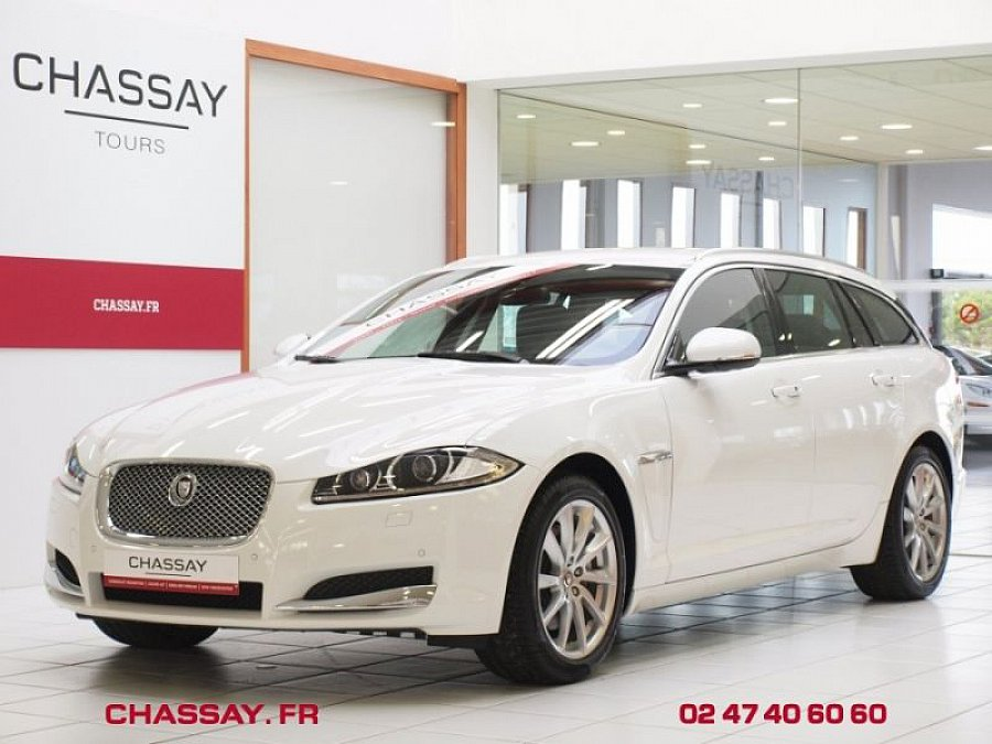 jaguar xf sportbrake i 2 2 d 200 ch luxe break blanc. Black Bedroom Furniture Sets. Home Design Ideas