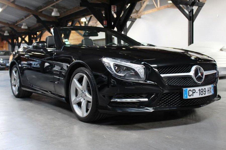 mercedes classe sl r231 350 blueefficiency 7g tronic cabriolet noir occasion 64 800 34 500. Black Bedroom Furniture Sets. Home Design Ideas
