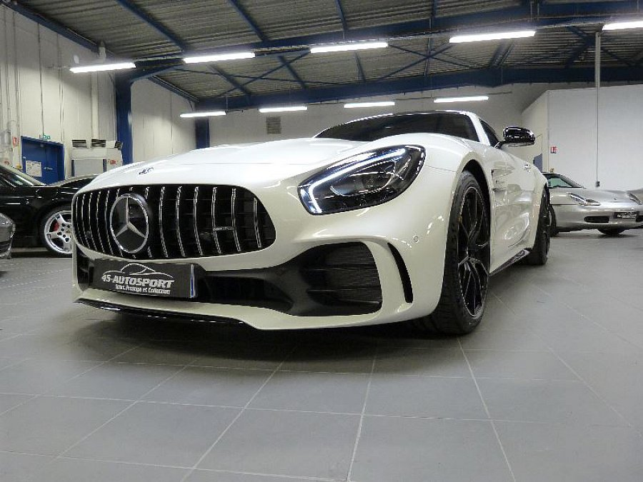 mercedes amg gt c190 r 585 ch coup blanc occasion 270 000 1 990 km vente de voiture d. Black Bedroom Furniture Sets. Home Design Ideas