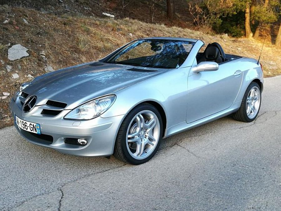 mercedes classe slk r171 350 272ch cabriolet gris occasion 18 900 63 700 km vente de. Black Bedroom Furniture Sets. Home Design Ideas
