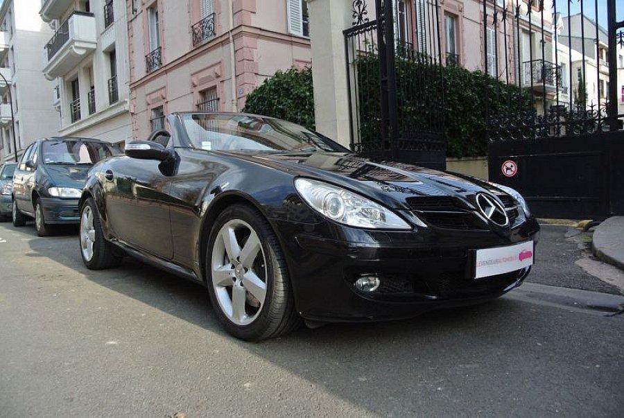 mercedes classe slk r171 350 272ch cabriolet noir occasion 16 890 70 000 km vente de. Black Bedroom Furniture Sets. Home Design Ideas