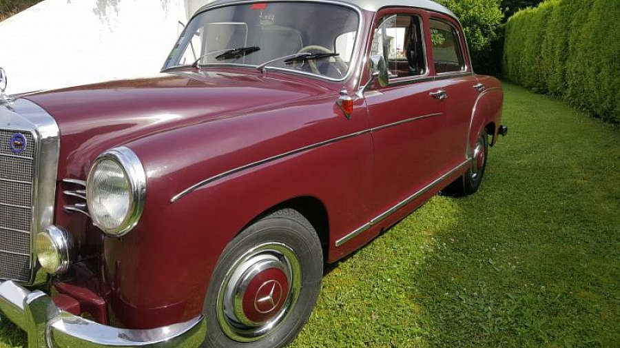 mercedes 180 1 8l 75ch w120 ponton berline bordeaux occasion 22 500 126 000 km vente. Black Bedroom Furniture Sets. Home Design Ideas