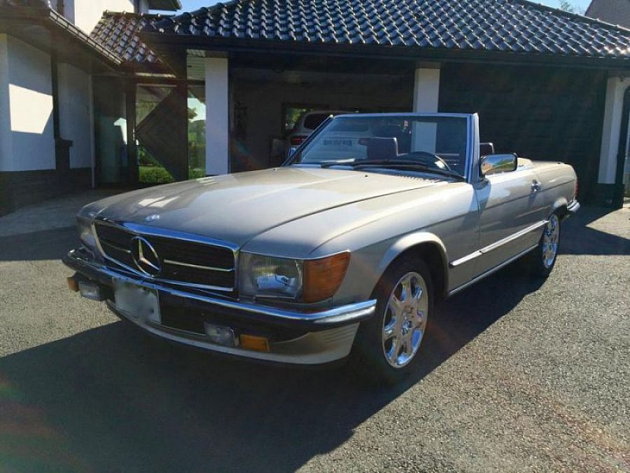 mercedes classe sl r107 500 sl cabriolet or occasion 33 490 130 000 km vente de voiture. Black Bedroom Furniture Sets. Home Design Ideas