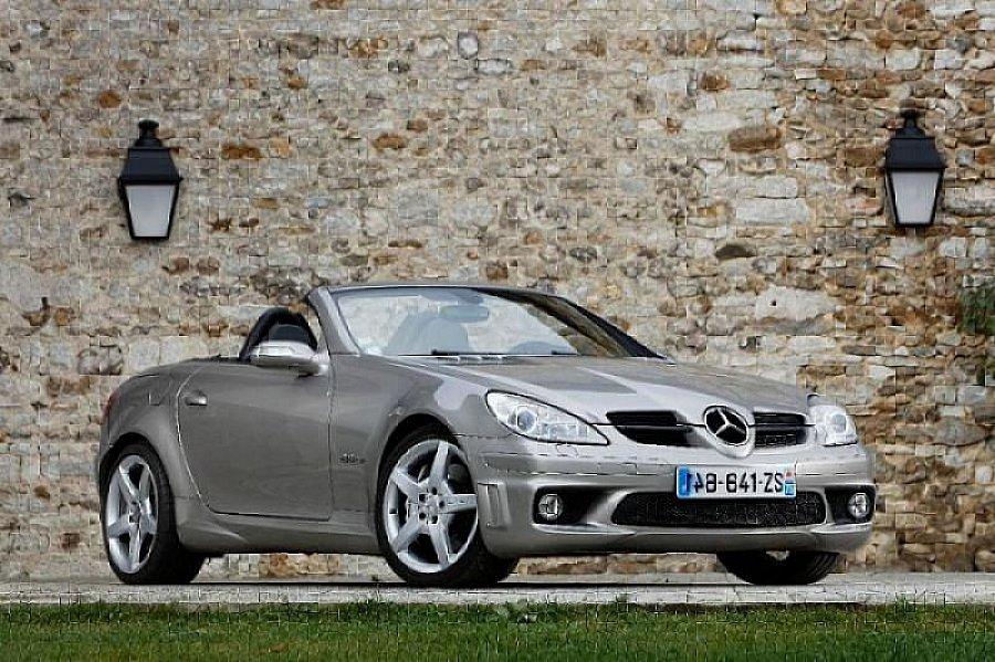 mercedes classe slk r171 55 amg cabriolet gris occasion 33 990 72 500 km vente de. Black Bedroom Furniture Sets. Home Design Ideas