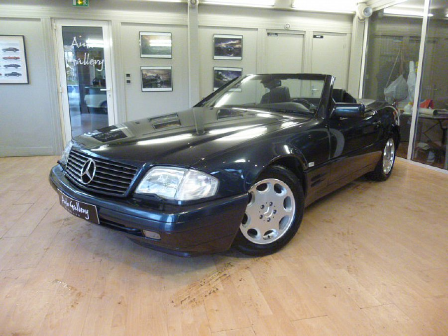 mercedes classe sl r129 320 cabriolet noir occasion 18 800 63 088 km vente de voiture d. Black Bedroom Furniture Sets. Home Design Ideas