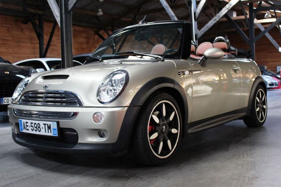 mini cabriolet r52 john cooper works cabriolet gris occasion 13 990 85 500 km vente de. Black Bedroom Furniture Sets. Home Design Ideas