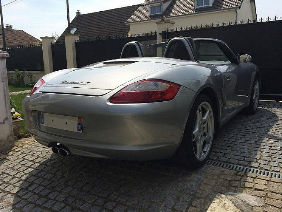 porsche boxster 987 s 280ch pack sport cabriolet argent occasion 26 500 124 500 km. Black Bedroom Furniture Sets. Home Design Ideas
