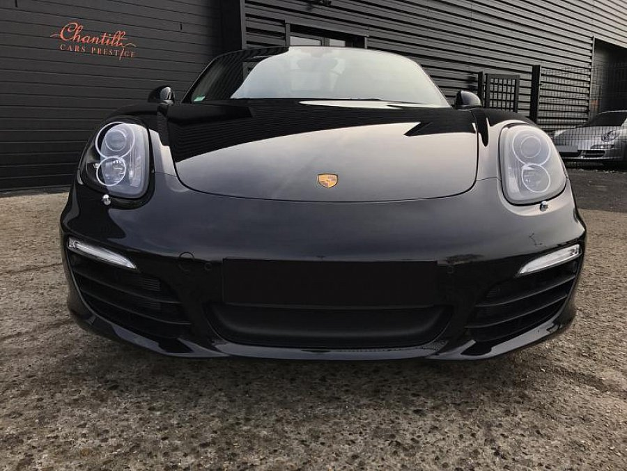 porsche boxster 981 black edition cabriolet noir occasion 66 900 4 900 km vente de. Black Bedroom Furniture Sets. Home Design Ideas