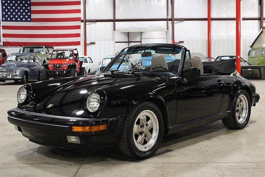 porsche 911 g carrera 3 2 cabrio cabriolet noir occasion 48 970 67 944 km vente de. Black Bedroom Furniture Sets. Home Design Ideas