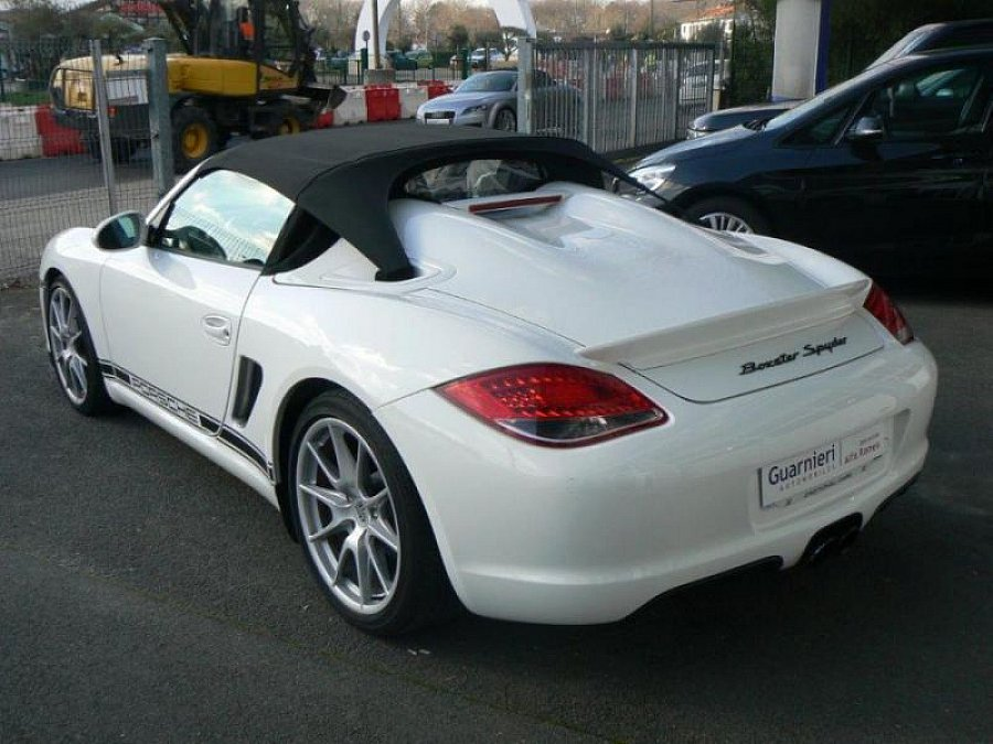 porsche boxster 987 spyder s 320ch cabriolet blanc occasion 84 900 22 000 km vente. Black Bedroom Furniture Sets. Home Design Ideas