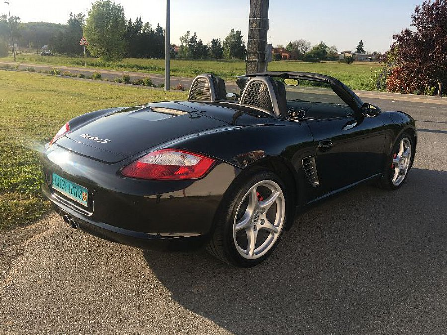 porsche boxster 987 s 295ch cabriolet noir occasion 29 500 59 000 km vente de. Black Bedroom Furniture Sets. Home Design Ideas