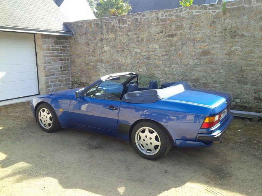 porsche 944 turbo 250 2 5 250 ch cabriolet bleu occasion 43 000 156 000 km vente de. Black Bedroom Furniture Sets. Home Design Ideas