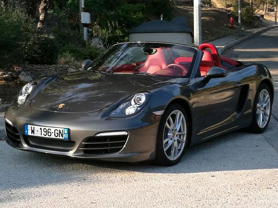 porsche boxster 981 cabriolet gris occasion 51 900 17 500 km vente de voiture d. Black Bedroom Furniture Sets. Home Design Ideas