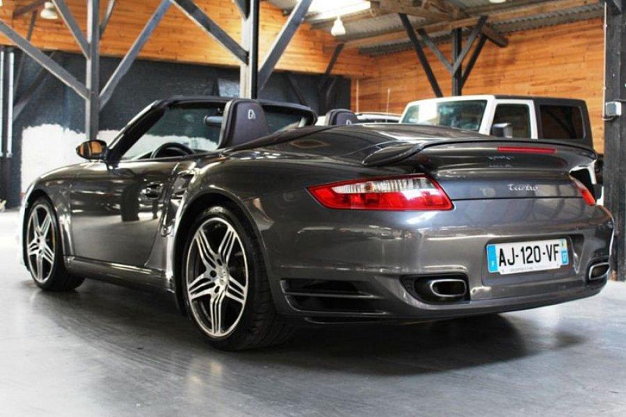 porsche 911 997 turbo 480ch cabriolet gris occasion 89 900 65 990 km vente de. Black Bedroom Furniture Sets. Home Design Ideas