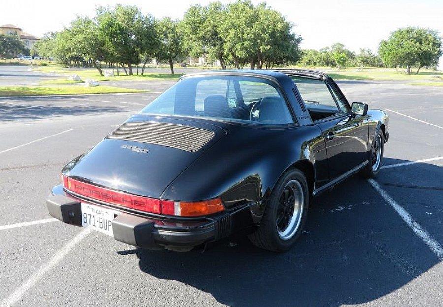 porsche 911 g sc 3 0 targa cabriolet noir occasion 39 870 61 381 km vente de voiture d. Black Bedroom Furniture Sets. Home Design Ideas