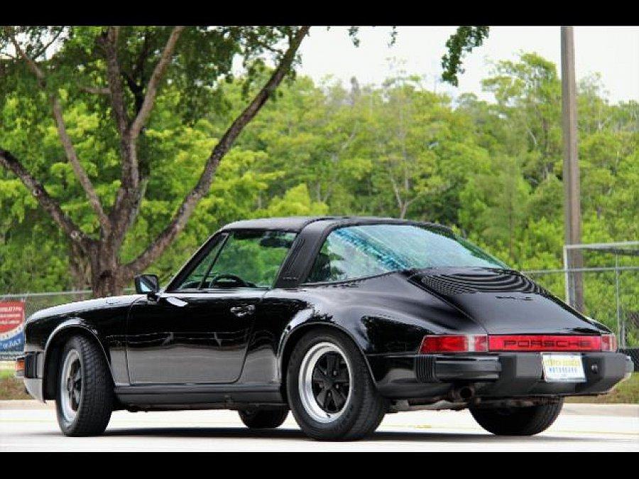 porsche 911 g sc 3 0 targa cabriolet noir occasion 44 280 82 664 km vente de voiture d. Black Bedroom Furniture Sets. Home Design Ideas