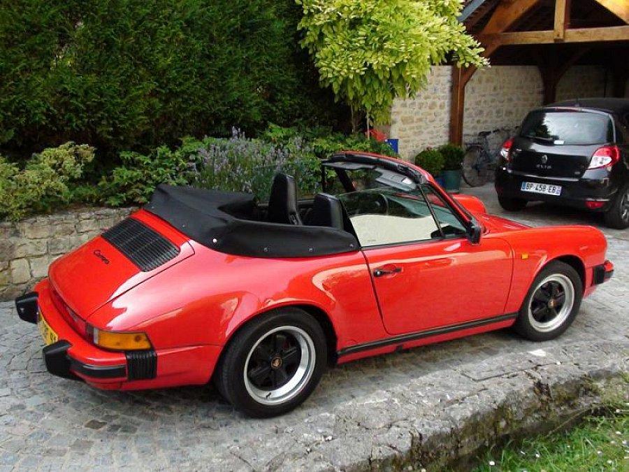 porsche 911 g carrera 3 2 cabrio cabriolet rouge occasion 48 000 138 000 km vente de. Black Bedroom Furniture Sets. Home Design Ideas