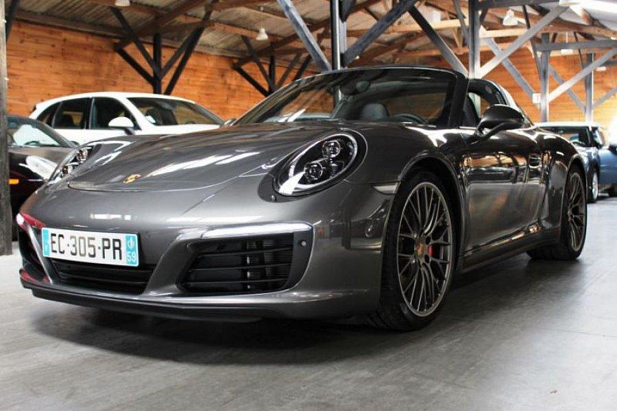 porsche 911 991 targa 4s 3 0 420 ch cabriolet gris occasion 167 900 2 999 km vente de. Black Bedroom Furniture Sets. Home Design Ideas