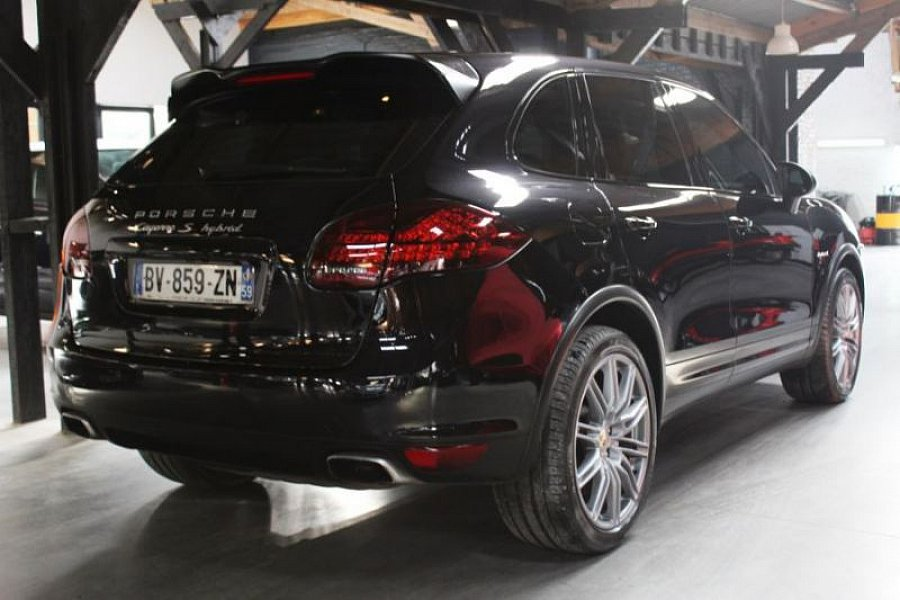 porsche cayenne 958 s hybrid 3 0 v6 suv noir occasion 43 990 119 900 km vente de voiture. Black Bedroom Furniture Sets. Home Design Ideas