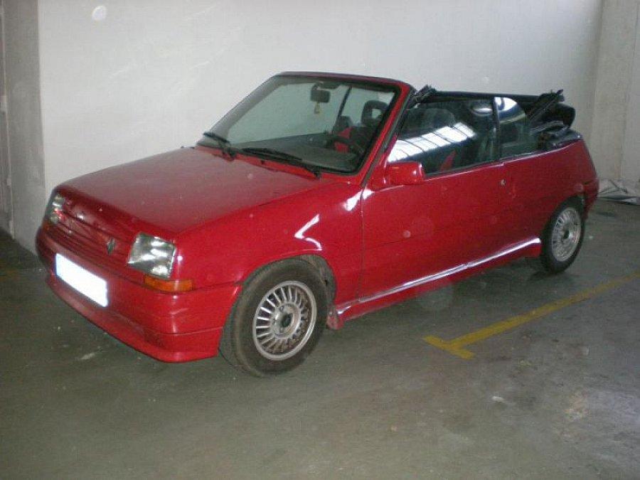 renault supercinq cabriolet rouge occasion 6 000 90 500 km vente de voiture d 39 occasion. Black Bedroom Furniture Sets. Home Design Ideas