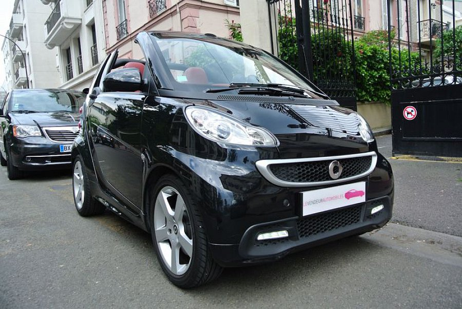 smart fortwo ii cabrio 1 0 84 ch passion cabriolet noir occasion 10 890 19 000 km vente. Black Bedroom Furniture Sets. Home Design Ideas